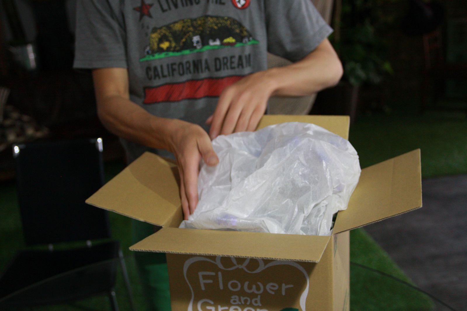 薄紙で梱包
