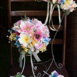 華やかウェディングブーケ花冠セット