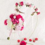 かわいいウェディングブーケ花冠セット